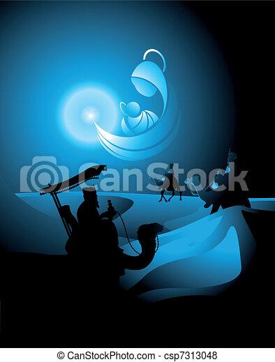 nativity scene - csp7313048