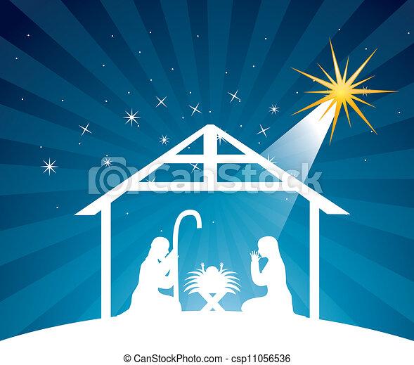 nativity scene - csp11056536