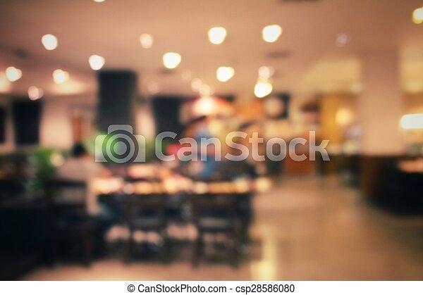 natt, suddig, restaurang - csp28586080