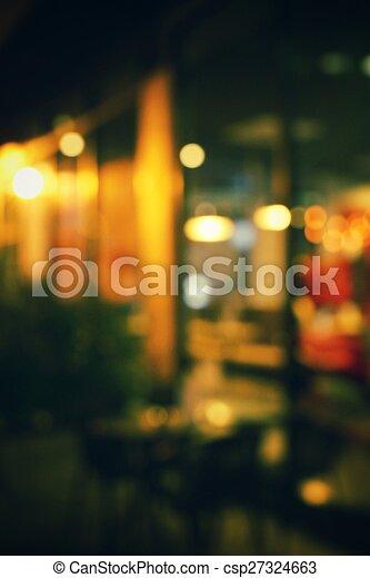 natt, suddig, restaurang - csp27324663