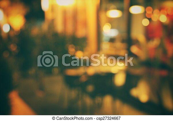 natt, suddig, restaurang - csp27324667