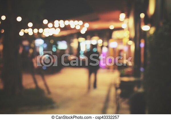 natt, suddig, restaurang - csp43332257
