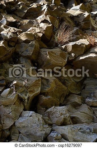 Natur-Hintergrund von Felsen - csp16279097