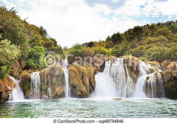 natur, park, sibenik, national, innerhalb, krka, -, krka, kroatien, ihr, am besten - csp68794846