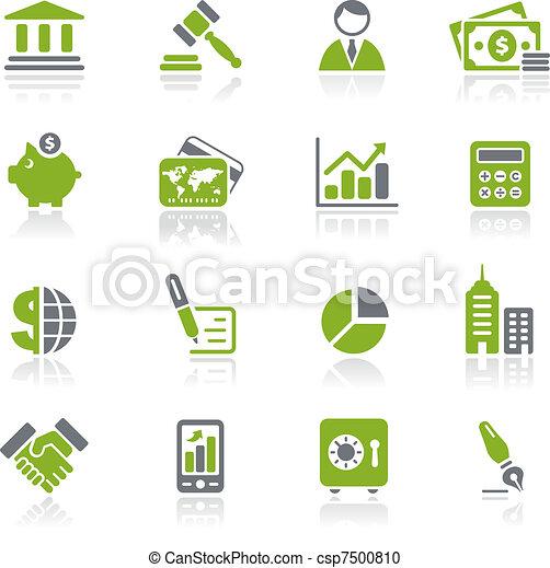 natura, financiën, zakelijk, &, iconen, / - csp7500810