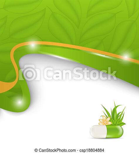 natural, alternativa, medicação, médico, fundo - csp18804884