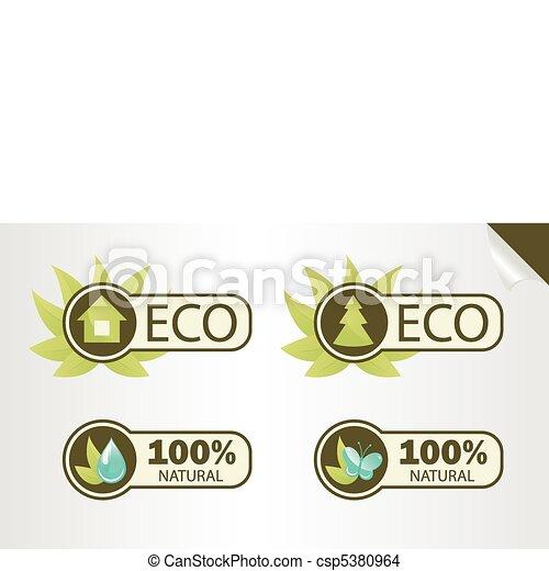 Natural and Eco Labels - csp5380964