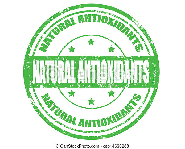 Natural Antioxidants- stamp - csp14630288