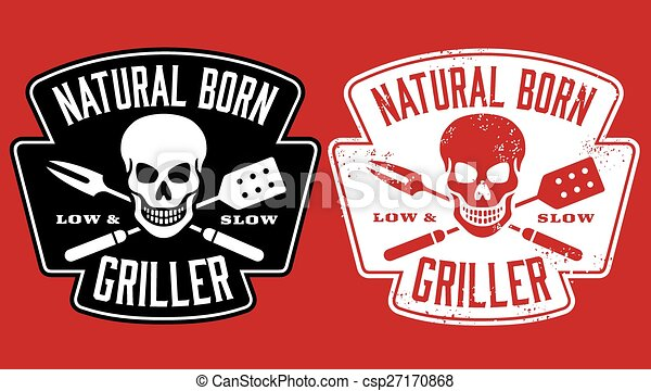 Natural Born Griller bbq design - csp27170868