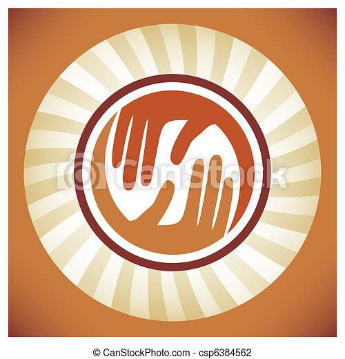 Natural caring hands design.  - csp6384562