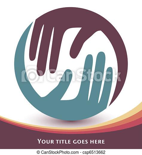 Natural caring hands design. - csp6513662