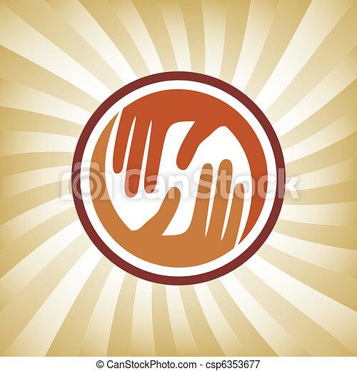 Natural caring hands design.  - csp6353677