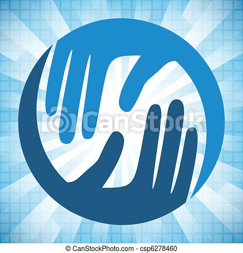 Natural caring hands design.  - csp6278460