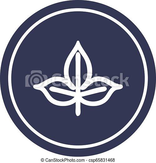 icono circular de hoja natural - csp65831468