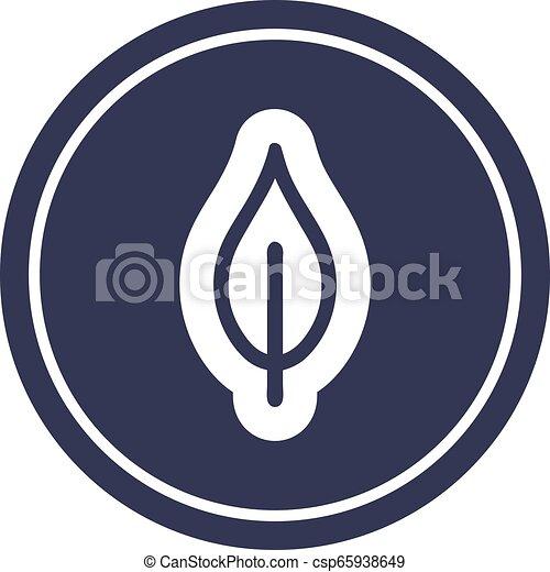 icono circular de hoja natural - csp65938649
