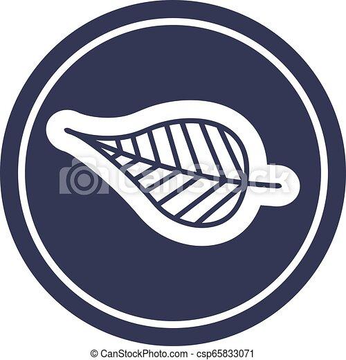 icono circular de hoja natural - csp65833071