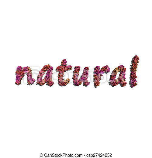 natural create by red color flowers white background - csp27424252