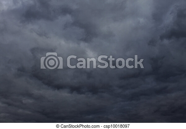 Natural Dark Thunder and Storm Clouds - csp10018097