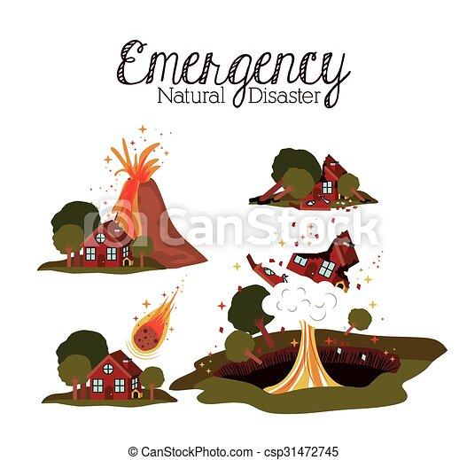 natural disaster design  - csp31472745
