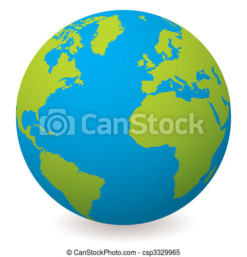natural earth globe - csp3329965