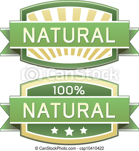 Natural food or product label - csp10410422