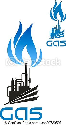 Natural gas industrial processing icon. Natural gas ...