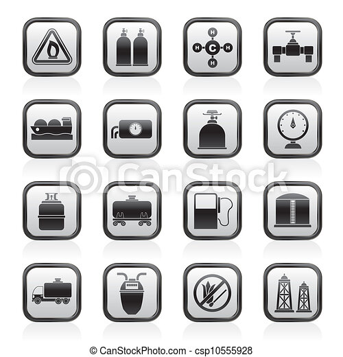 Natural gas objects and icons - csp10555928
