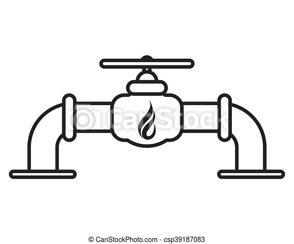 flat design natural gas pipeline icon vector illustration rh canstockphoto com sales pipeline clipart oil pipeline clipart