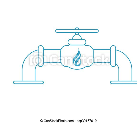 natural gas pipeline icon - csp39187019