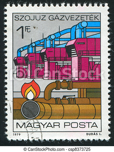 Natural Gas Pipeline - csp8373725
