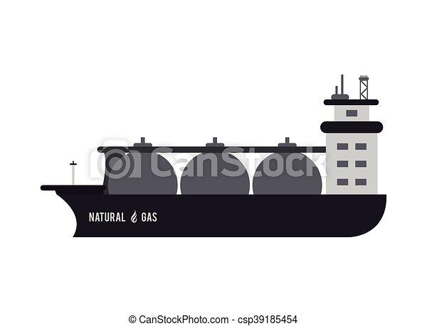 natural gas ship icon - csp39185454