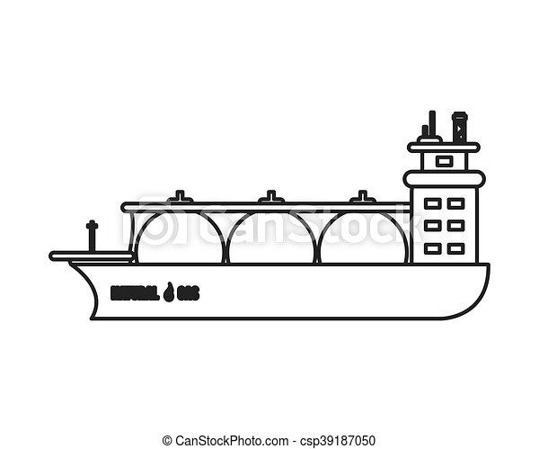 natural gas ship icon - csp39187050