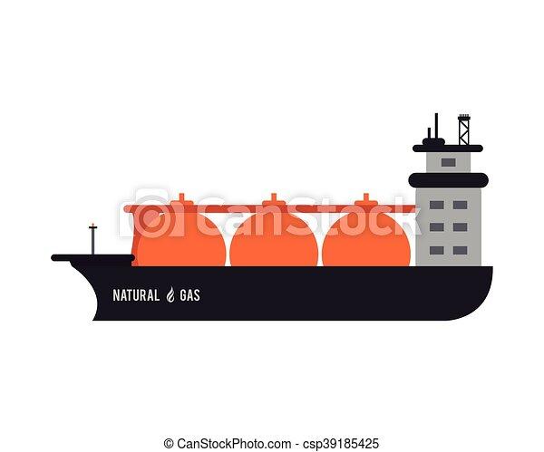 natural gas ship icon - csp39185425