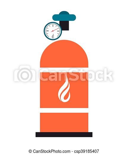 natural gas tank icon - csp39185407