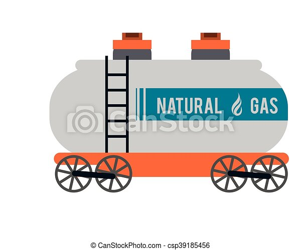 flat design natural gas truck icon vector illustration clipart rh canstockphoto com Natural Gas Meter oil and natural gas clipart