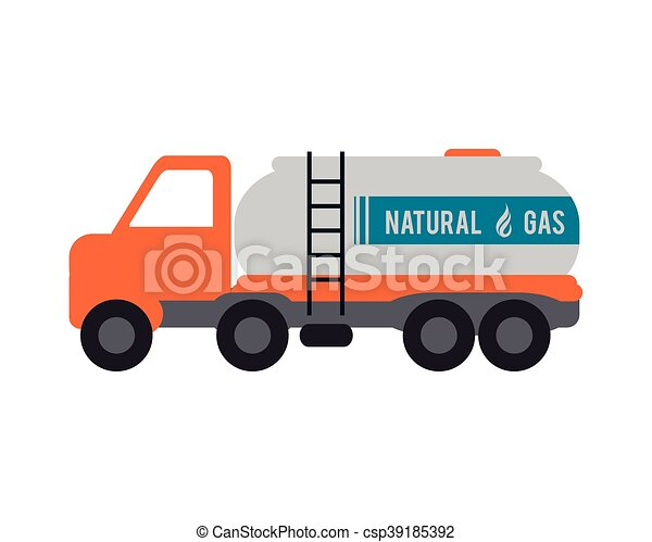 natural Gas Truck icon - csp39185392