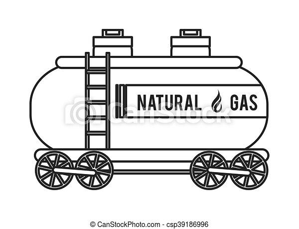 natural Gas Truck icon - csp39186996