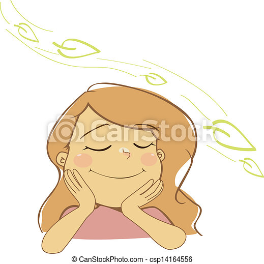 natural girl breathing fresh air clipart vector   search