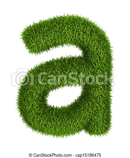 e1f35c86a Natural grass letter a lowercase. Letter a lowercase photo realistic ...