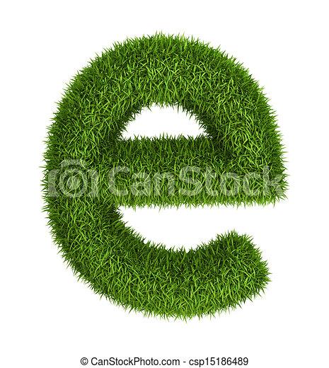Natural Grass Letter E Lowercase Letter E Lowercase Photo Realistic