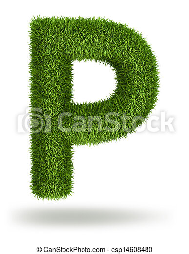 56d2b8cd4 Natural grass letter p. Natural 3d isolated photo realistic grass ...
