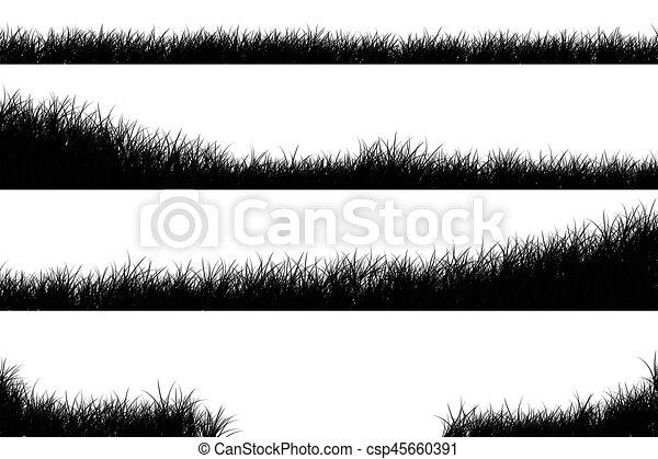 natural grass vector silhouette https www canstockphoto com natural grass vector silhouette 45660391 html