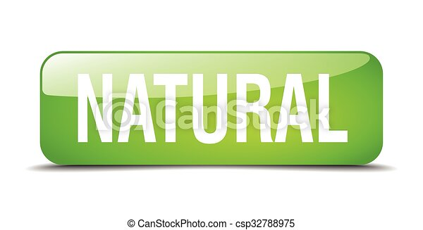 natural green square 3d realistic isolated web button - csp32788975