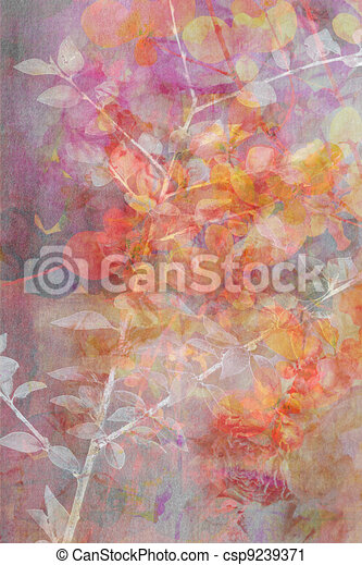 Natural leaves grunge beautiful, artistic background - csp9239371