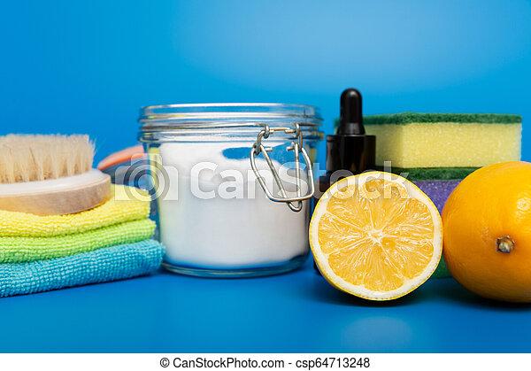 natural, limpadores, products., verde, eco-amigável, caseiro, limpeza - csp64713248