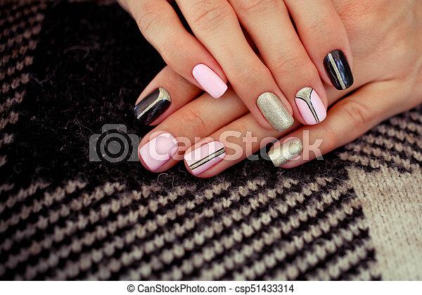 Natural Nails Gel Polish Stylish Nails Nailpolish Nail Art