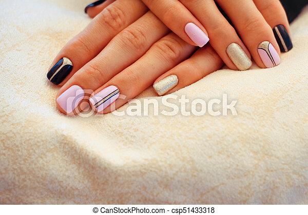 Natural nails, gel polish. Stylish Nails, Nailpolish. Nail art design for  the - Natural Nails, Gel Polish. Stylish Nails, Nailpolish. Nail Art