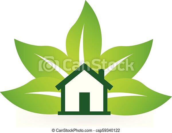 Verde vector de icono de la naturaleza natural - csp59340122