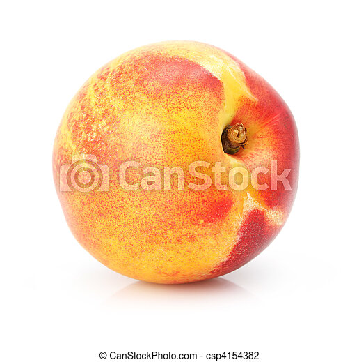 natural peach fruit isolated on white - csp4154382