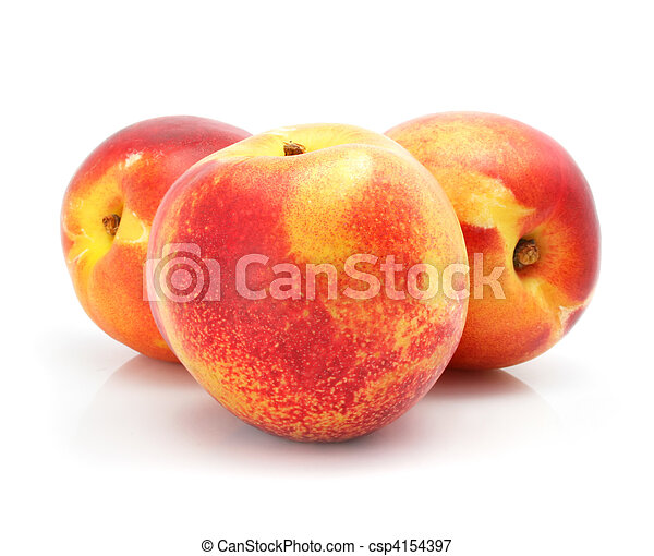 natural peach fruits isolated on white - csp4154397